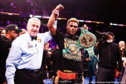 Efe Ajagba, Hugo Centeno Jr, Jermell Charlo, Oscar Escandon, Rene Tellez Giron, Tony Harrison -  Jermell Charlo reclaimed the WBC Super Welterweight Championship from Tony Harrison with a blistering stoppage at 2:08 of the 11th round in a FOX PBC Fight Night main event and on FOX Deportes from Toyota Arena in Ontario, Calif.