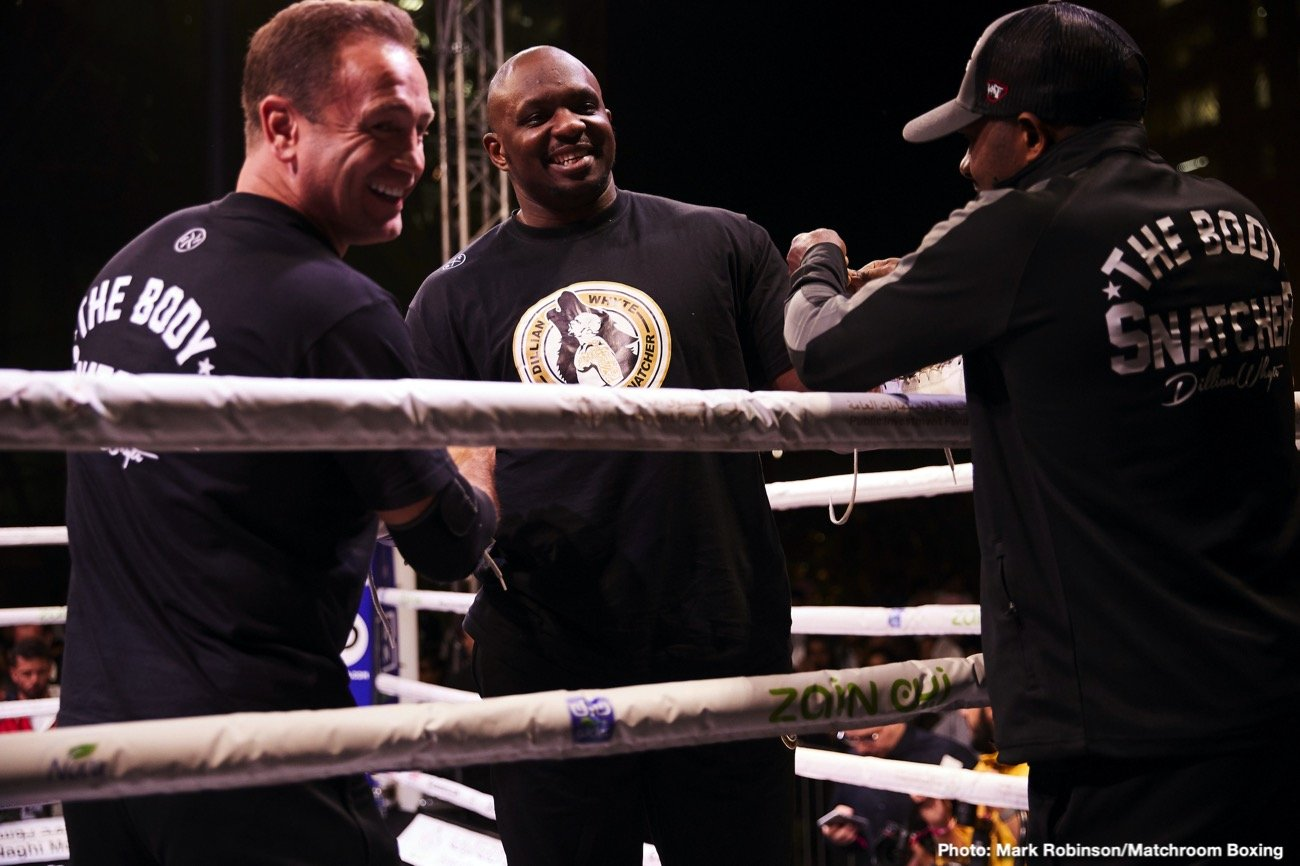 Anthony Joshua, Deontay Wilder, Dillian Whyte, Tyson Fury - Dillian Whyte will need to wait possibly until 2022 to get a title shot against WBC heavyweight champion Tyson Fury, who is telling him that he needs to get in line and wait.