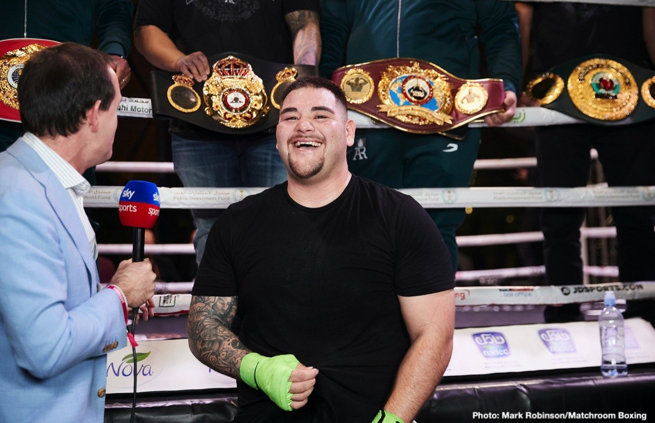 Andy Ruiz, Dereck Chisora, Dillian Whyte, Eddie Hearn, Matchroom Boxing - Eddie Hearn reportedly has made a 7-figure offer to former IBF, WBA & WBO heavyweight champion Andy Ruiz Jr. for him to battle highly ranked Matchroom Boxing fighter Dillian Whyte on March 28 or April, according to @MikeCoppinger.