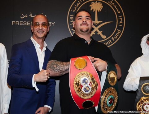Andy Ruiz, Anthony Joshua - Andy Ruiz Jr and Anthony Joshua faced the world's media for the first time this week at the official fighter's arrival party at the Centria Mall in Riyadh ahead of their colossal Heavyweight World title rematch at the Diriyah Arena in Saudi Arabia on Saturday December 7, shown live on Sky Sports Box Office in the UK and DAZN in the US.