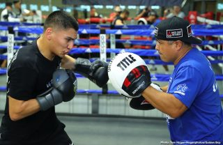 Vergil Ortiz - Joshua Franco (15-1-2, 7 KOs) and Hector Tanajara Jr. (18-0, 5 KOs) also participated in the workout as they prepare to return on the undercard of Munguia vs O'Sullivan on Jan. 11 at the Alamodome in San Antonio and also live on DAZN.