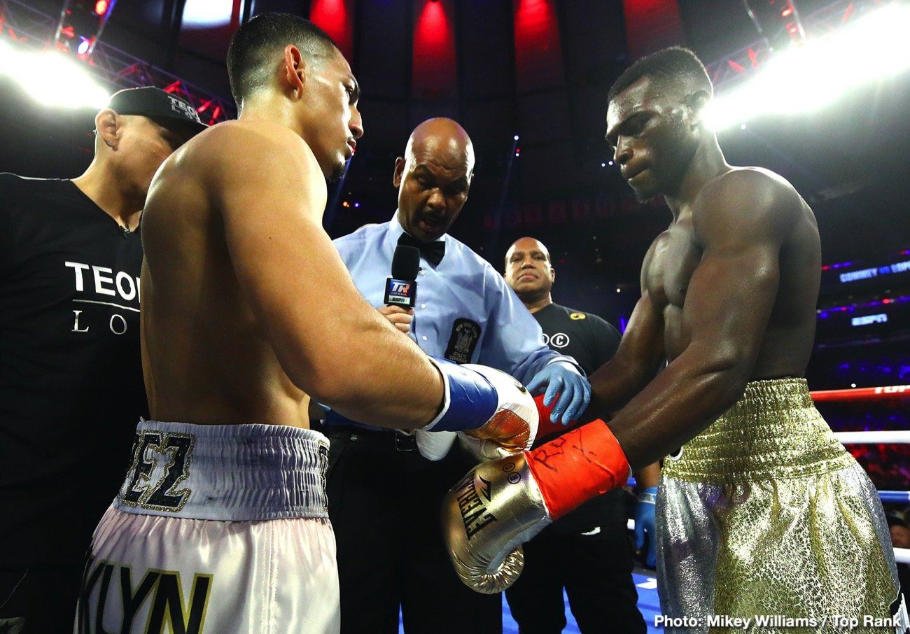 """Teofimo Lopez, Vasiliy Lomachenko - According to Teofimo Lopez, we ain't seen nuthin' yet. Speaking before the media yesterday (as reported by RingTV.com), the IBF lightweight champion said that as fans and experts have only been watching him fight for """"three, three-and-a-half years,"""" we have yet to witness the full extent of his powers."""