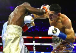 """Richard Commey, Teofimo Lopez - For some time now, Brooklyn man Teofimo Lopez has wanted and has been calling for a big fight with P-4-P king (in the opinion of most) Vasyl Lomachenko. Thanks to his handiwork last night, 22 year old Lopez might have got it. Blasting clean through the tough, previously unstopped Richard Commey to take the IBF lightweight title, Lopez has arrived on the big stage. And he is now on the radar of """"Loma."""""""