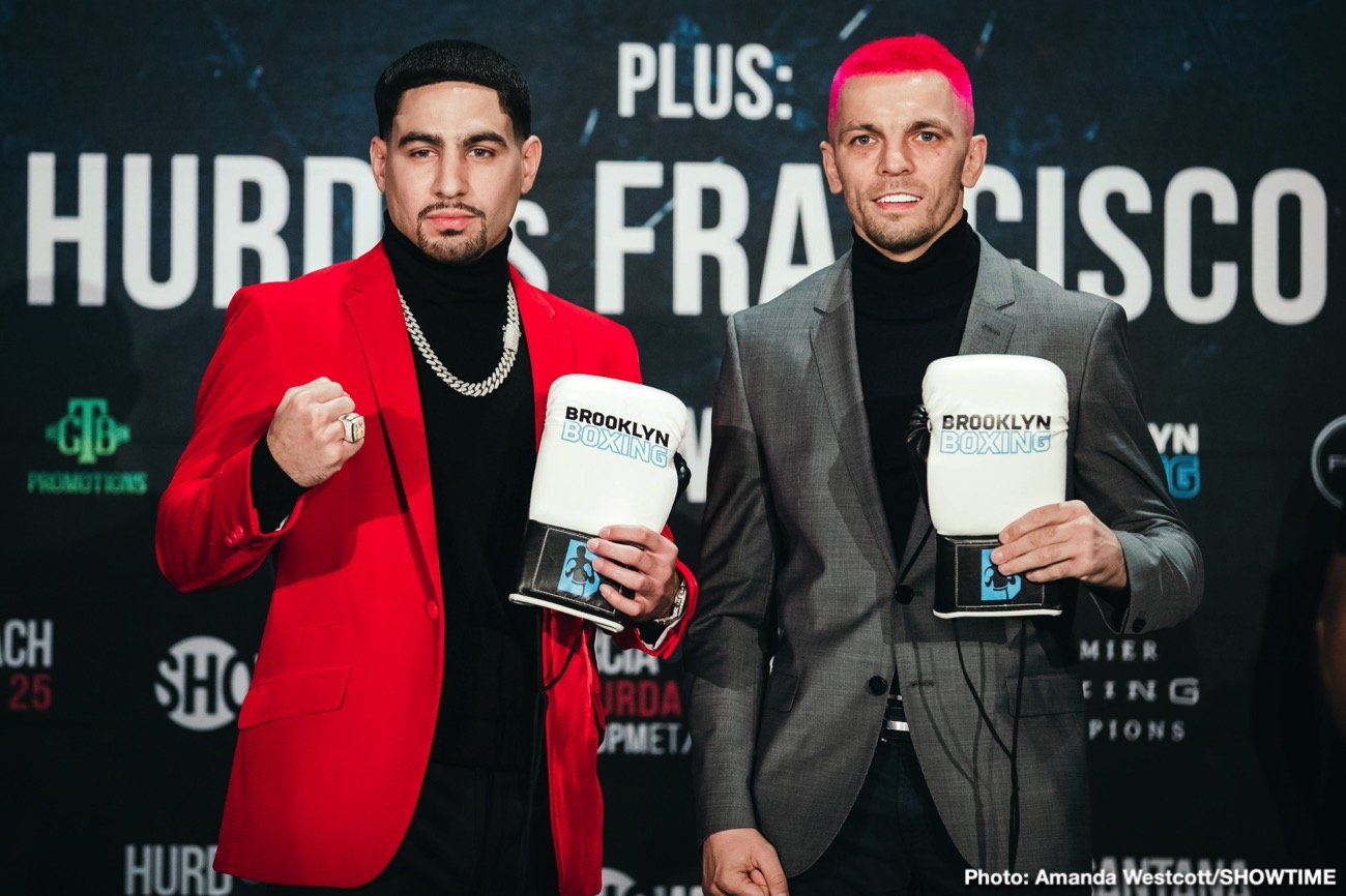 """Francisco Santana - Two-division world champion Danny """"Swift"""" Garcia and hard-hitting Ivan """"El Terrible"""" Redkach went face to face for the first time at a press conference on Wednesday as they previewed their WBC Welterweight Title Eliminator headlining action live on SHOWTIME Saturday, January 25 from Barclays Center, the home of BROOKLYN BOXING™, in a Premier Boxing Champions event."""