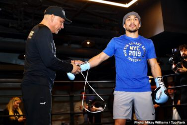 """Egidijus Kavaliauskas, Michael Conlan, Richard Commey, Teofimo Lopez, Terence Crawford, Vladimir Nikitin - Pound-for-pound king and WBO welterweight world champion Terence """"Bud"""" Crawford returns to Madison Square Garden Saturday evening (9 p.m. ET, ESPN) as the headliner for the card of the year, a three-headed monster that will follow the Heisman Trophy ceremony."""