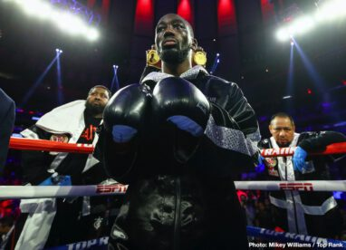 Egidijus Kavaliauskas, Terence Crawford - Terence Crawford may not have had the biggest 2019, the big fights we want to see failing to materialize, yet the unbeaten pound-for-pound entrant signed off the year with a most enjoyable and exciting fight last night. Stopping a game Egidijus Kavaliasuskas (Mean Machine) in the ninth-round to retain his WBO welterweight title, 32 year old Crawford did not have things all his own way.