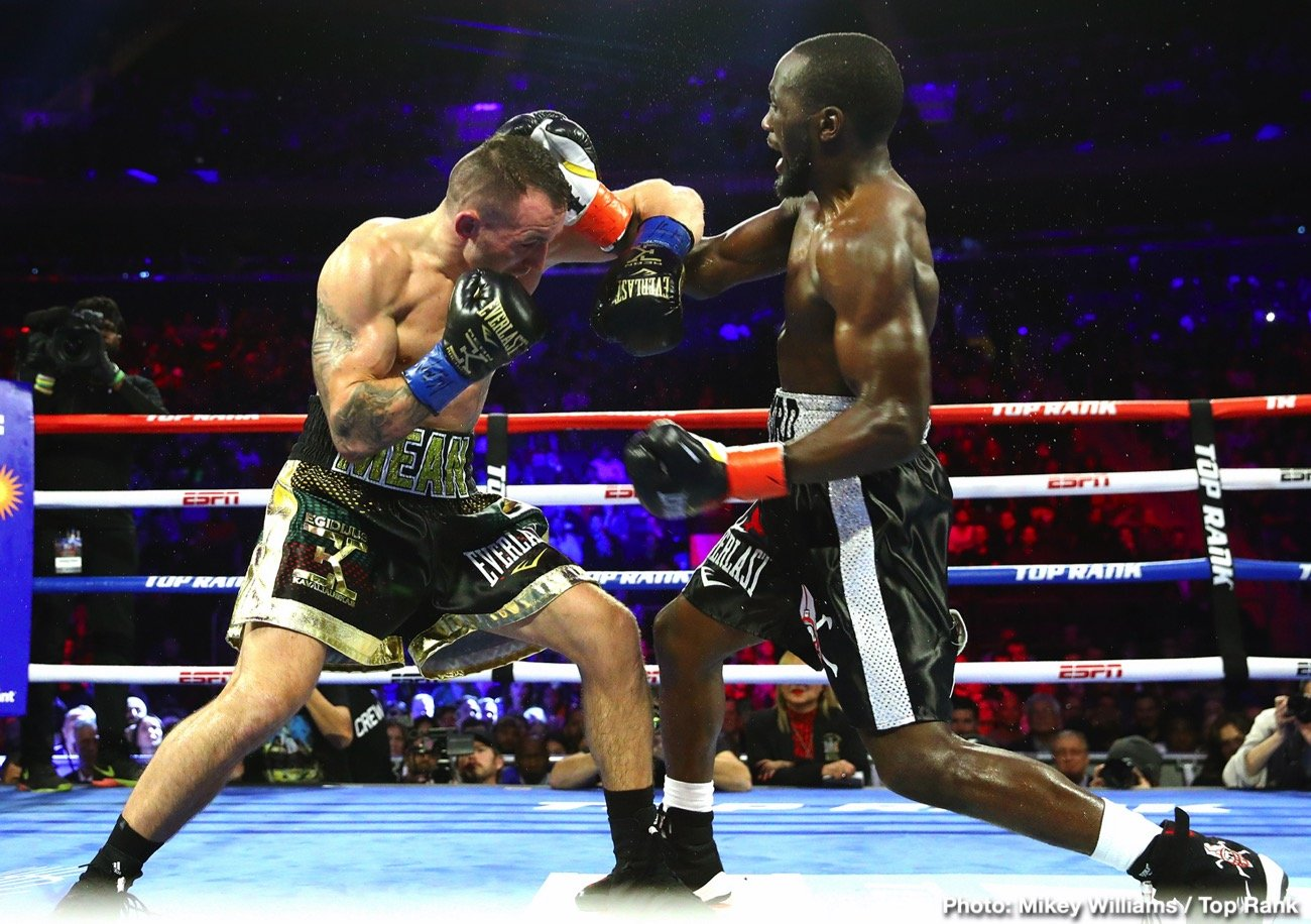 Bob Arum, Terence Crawford - Bob Arum says he doesn't care if Terence Crawford is mad at him for his comments because he doesn't want to continue losing money on his fights. Arum says he'd like to set up a fight with IBF/WBC welterweight champion Errol Spence Jr, and if Crawford wins, he's free to sign with Al Haymon.