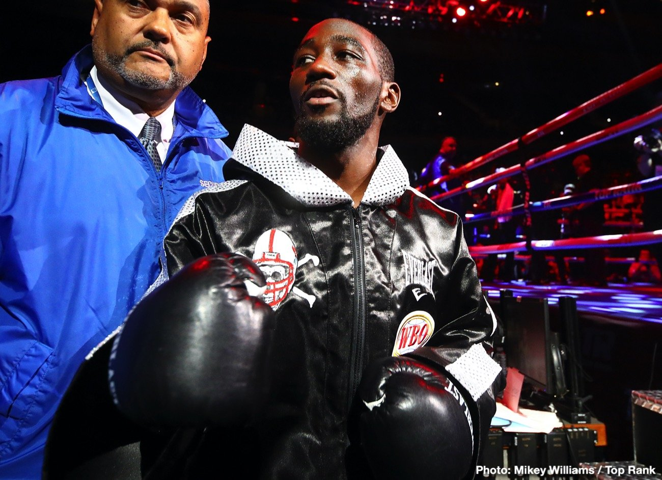 Top Rank Boxing - Terence Crawford insists that his promoters at Top Rank are going to need to pay him extra for him to agree to fight without fans if it comes to that due to the pandemic.