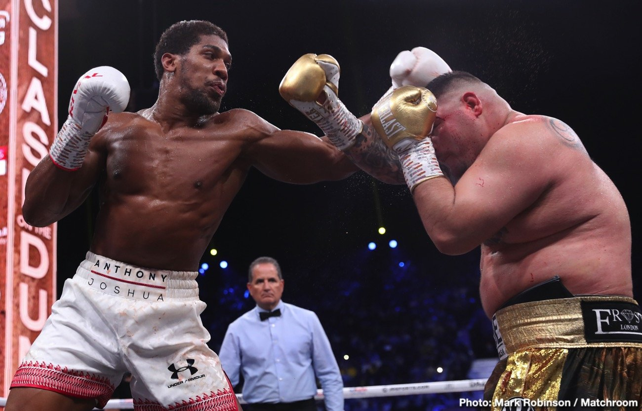 Eddie Hearn - Anthony Joshua is still willing to fight Tyson Fury twice next year even if the WBC makes him Franchise Champion, says Matchroom promoter, Eddie Hearn. Ideally, Joshua wants to fight for with his WBC title still in his possession, but if he's made Franchise champion, the fight will even go ahead.