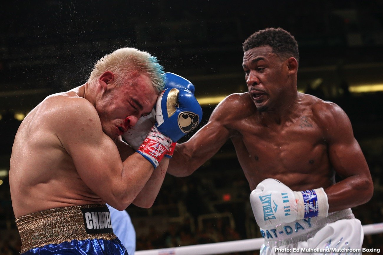 Daniel Jacobs - DAZN completed an incredible year of boxing in front of an electric crowd of 10,697 on Friday night at the Talking Stick Resort Arena, where Daniel 'Miracle Man' Jacobs (36-3, 30 KOs) earned a stoppage victory over Julio Cesar Chavez, Jr. (51-4-1, 33 KOs). The referee called an end to the contest after Chavez Jr. complained of problems breathing after the fifth round. Chavez, Jr. failed to meet the 168-pound weight limit at Thursday's weigh-in resulting in tonight's matchup being contested at 173 pounds.