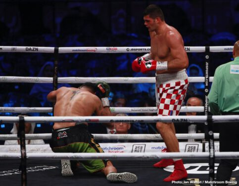 Alexander Povetkin, Andy Ruiz, Anthony Joshua, Dillian Whyte, Filip Hrgovic, Michael Hunter - In the biggest heavyweight fight of the decade, Anthony Joshua OBE (23-1, 21 KOs) recaptured his position as the unified world heavyweight champion with a masterful unanimous decision victory over Andy Ruiz, Jr. (33-2, 22 KOs) in a rematch that captured the world's attention. In front of thousands of rabid fans at the Diriyah Arena in Riyadh, Saudi Arabia, Joshua exacted his revenge against Ruiz, who six months ago dethroned the undefeated kingpin in epic fashion at Madison Square Garden in New York. Joshua returns to the U.K. as the unified IBF, WBA and WBO world heavyweight champion and now two-time world heavyweight champion.