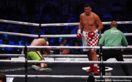 Eric Molina, Filip Hrgovic - Filip Hrgović (10-0, 8 KOs) announced himself on the world stage with a sensational three round demolition of two-time World title challenger Eric Molina (27-6, 19 KOs) to retain his WBC International Heavyweight title at the Diriyah Arena in Saudi Arabia.