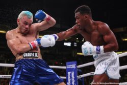 Daniel Jacobs, Daniyar Yeleussinov, Gabriel Rosado, Julio Cesar Chavez, Liam Smith, Maurice Hooker - DAZN completed an incredible year of boxing in front of an electric crowd of 10,697 on Friday night at the Talking Stick Resort Arena, where Daniel 'Miracle Man' Jacobs (36-3, 30 KOs) earned a stoppage victory over Julio Cesar Chavez, Jr. (51-4-1, 33 KOs). The referee called an end to the contest after Chavez Jr. complained of problems breathing after the fifth round. Chavez, Jr. failed to meet the 168-pound weight limit at Thursday's weigh-in resulting in tonight's matchup being contested at 173 pounds.