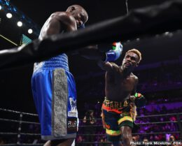 Jermell Charlo, Tony Harrison - WBC junior middleweight champion Tony Harrison's chin betrayed him in the 11th round with Jermell Charlo (33-1, 17 KOs) stopping him in a come from behind victory in their rematch on Saturday night at the Toyota Arena in Ontario, California.