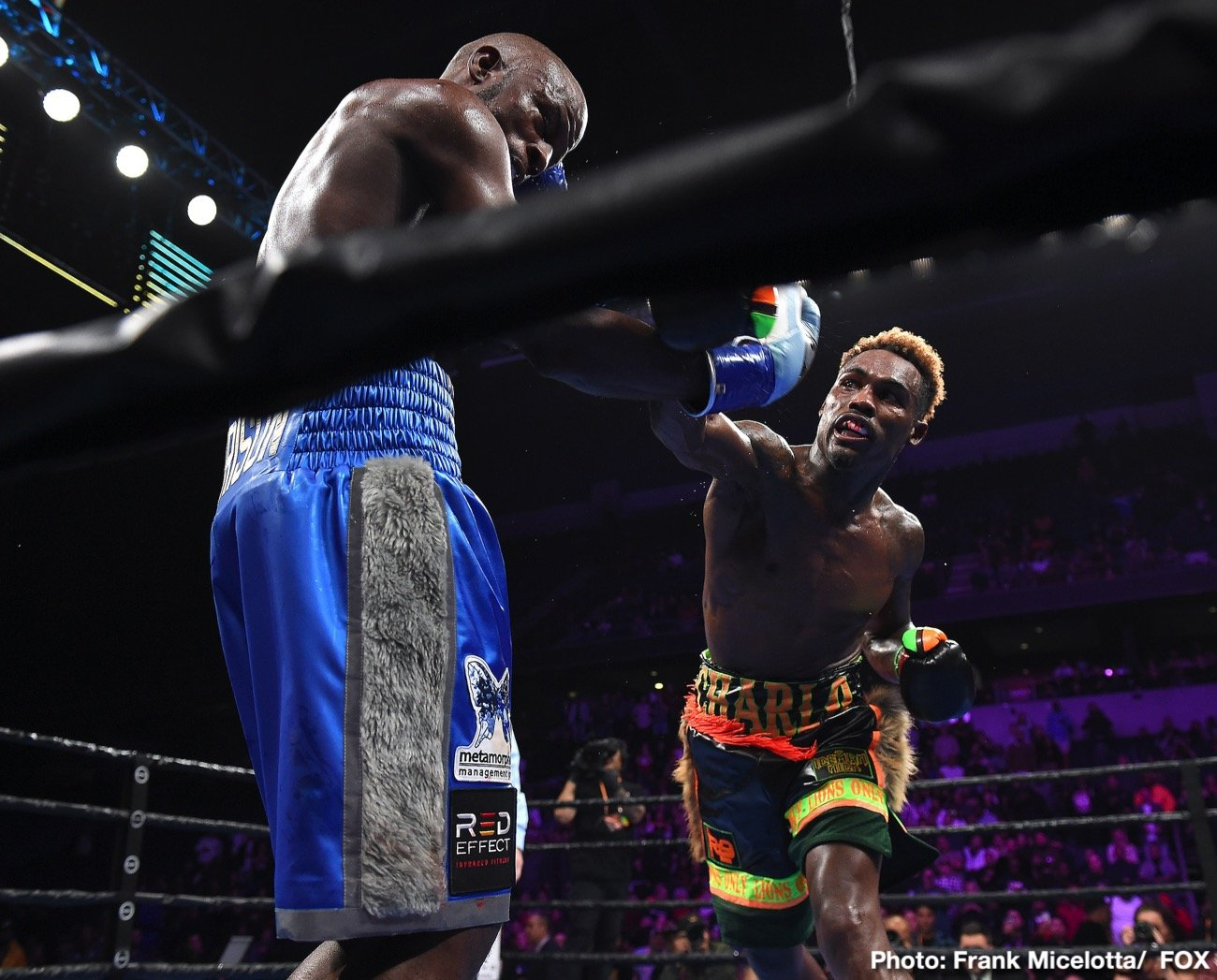 Tony Harrison -  Jermell Charlo reclaimed the WBC Super Welterweight Championship from Tony Harrison with a blistering stoppage at 2:08 of the 11th round in a FOX PBC Fight Night main event and on FOX Deportes from Toyota Arena in Ontario, Calif.