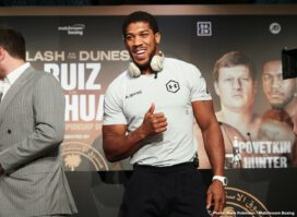 Andy Ruiz, Anthony Joshua - Andy Ruiz, Jr. and Anthony Joshua OBE addressed the media for the final time ahead of their Saturday rematch, a fight that has been lauded as the most significant heavyweight title fight in more than a decade.Ruiz vs. Joshua 2 will take place this Saturday in Riyadh, Saudi Arabia at a purpose-built arena with an expected sold-out crowd of more than 15,000 fans. The fight is available exclusively on DAZN in the United States with the main card beginning at 12 p.m. ET and the main event expected to commence shortly after 3:30 p.m. ET.