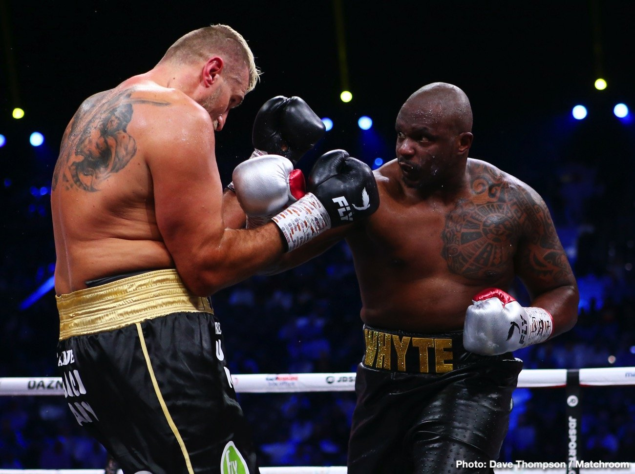 """Dillian Whyte - Promoter Eddie Hearn said at the weekend, after his second most famous heavyweight, Dillian Whyte, was cleared by UKAD, that he felt the WBC would """"do the right thing; the only thing"""" and reinstate Whyte as their interim heavyweight champion and give back Whyte's mandatory position."""