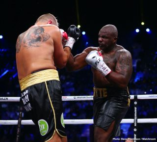 "Matchroom Boxing - Dillian Whyte is stomping mad at recently dethroned IBF/WBA/WBO heavyweight champion Andy Ruiz Jr. turning down the offer made to him by his British promoter, and then saying that he didn't want ""any smoke"" in a fight against him."
