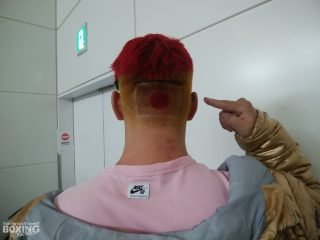 Kyotaro Fujimoto - PROUD JAPANESE HEAVYWEIGHT Kyotaro Fujimoto has unveiled a patriotic new hairdo at an airport in Tokyo as he begins his journey to London.