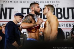Caleb Plant, Vincent Feigenbutz - The 'KO King' Vincent Feigenbutz (31-2, 28 KOs) and his opponent Caleb Plant (19-0, 11 KOs) both comfortably made weight on Friday afternoon ahead of their IBF Super Middleweight World title fight this Saturday night at the 20,000 seater Bridgestone Arena in Nashville, USA.
