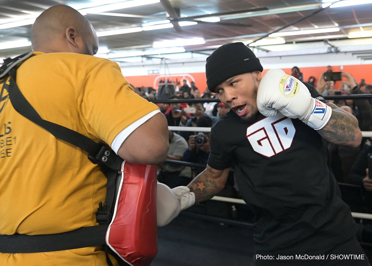 "Yuriorkis Gamboa - Boxing's hottest attraction Gervonta ""Tank"" Davis kicked off fight week working out in front of the Atlanta media and eager boxing fans at a public workout at the Atlanta Sports Complex on Monday night."