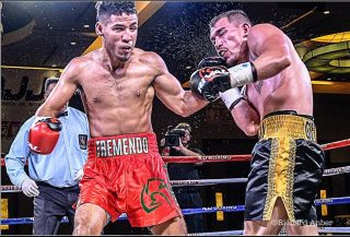"Kendo Castaneda, Yomar Alamo - Texas super lightweight Kendo ""Tremendo"" Castaneda (17-0, 8 KOs) will risk his perfect pro record against Yomar ""The Magic"" Alamo (17-0-1, 12 KOs) in a rare showdown between undefeated prospects on February 28, live on Boxeo Telemundo, starting at 11:30 p.m. ET / 8:30 p.m. PT, from Osceola Heritage Park in Kissimmee, Florida."
