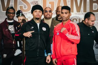 """Jean Pascal - Boxing's hottest attraction, Gervonta """"Tank"""" Davis, and former unified champion Yuriorkis Gamboa, went face to face Thursday at the final press conference two days before they battle for the vacant WBA Lightweight Title this Saturday, December 28 live on SHOWTIME from the award-winning State Farm Arena in Atlanta in a Premier Boxing Champions event."""