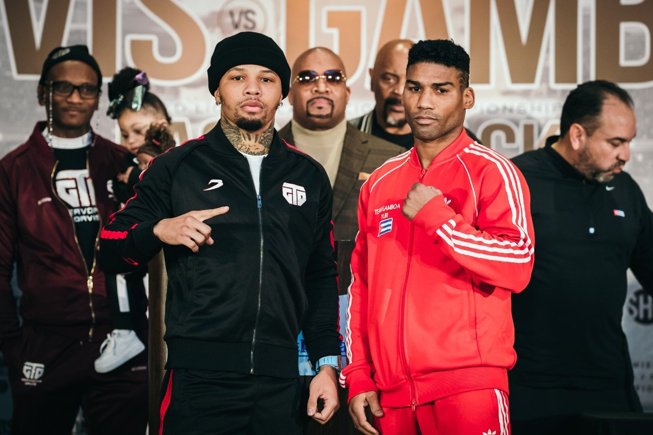 "Badou Jack - Boxing's hottest attraction, Gervonta ""Tank"" Davis, and former unified champion Yuriorkis Gamboa, went face to face Thursday at the final press conference two days before they battle for the vacant WBA Lightweight Title this Saturday, December 28 live on SHOWTIME from the award-winning State Farm Arena in Atlanta in a Premier Boxing Champions event."