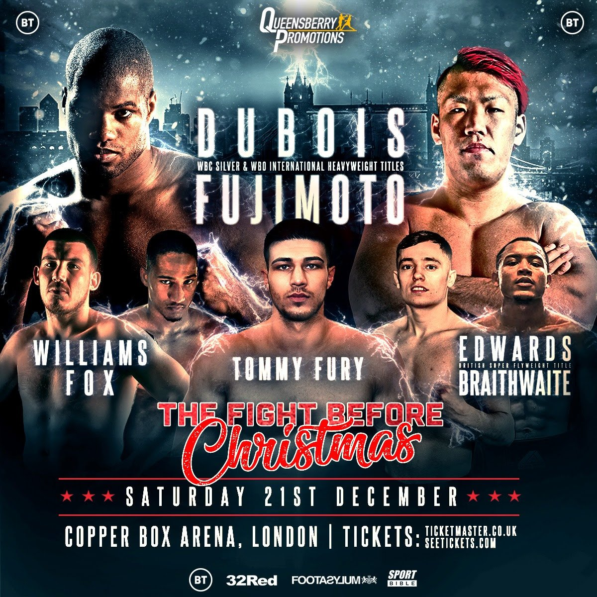 """Kyotaro Fujimoto - The 22-year-old heavyweight destroyer, London's Daniel """"Dynamite"""" Dubois, will look to close out his breakthrough 2019 in devastating fashion Saturday from the Copper Box Arena in his hometown against Japan's Kyotaro Fujimoto."""