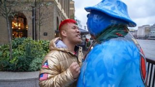 Kyotaro Fujimoto - JUST FOUR DAYS AWAY from his titanic tussle with Daniel Dubois, Japanese Heavyweight Kyotaro Fujimoto today battled the British weather as he enjoyed 'Christmas by the River' market at London Bridge City.