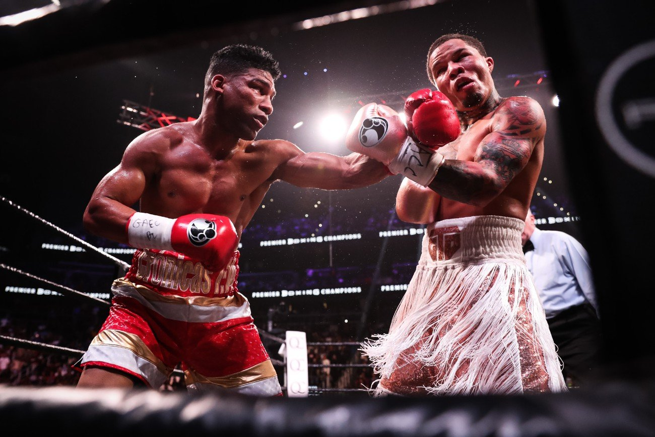 "Yuriorkis Gamboa - Undefeated two-time super featherweight world champion Gervonta ""Tank"" Davis (23-0, 22 KOs) successfully moved up to 135 pounds and won the WBA Lightweight Title with a 12th round knockout of former unified champion Yuriorkis Gamboa (30-3, 18 KOs) Saturday night live on SHOWTIME in front of 14,129 fans from the award-winning State Farm Arena in Atlanta."