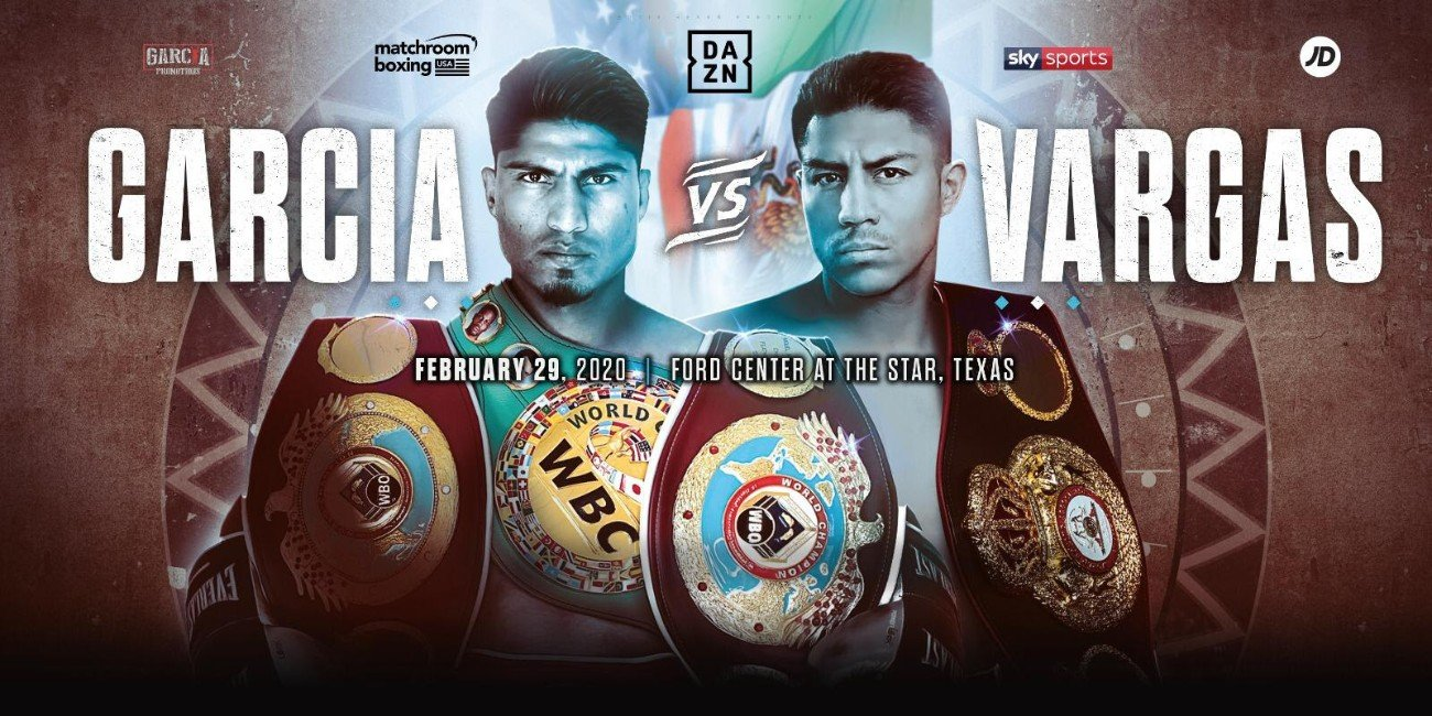 Jessie Vargas - Mikey Garcia and Jessie Vargas will clash in a Welterweight blockbuster at Ford Center at the Star in Frisco, Texas on Saturday February 29 live on DAZN in the US and on Sky Sports in the UK.