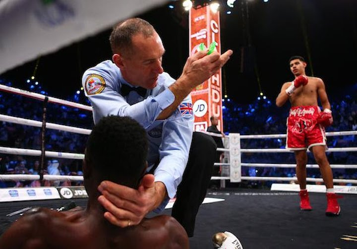 Diego Pacheco - iego Pacheco destroyed Selemani Said in the 1st round of their scheduled four-round super middleweight bout.