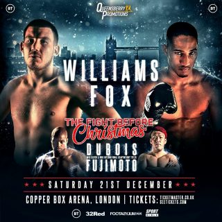 """Liam Williams - ALANTEZ FOX has warned Middleweight banger Liam Williams that the """"doctor is going to have to save him from himself"""" come December 21st."""