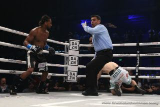"Demetrius Andrade - In a one-sided fight, WBO middleweight champion Demetrius ""Boo Boo"" Andrade (29-0, 18 KOs) totally dominated #3 WBO Luke Keeler (17-3-1, 5 KOs) in beating him by a 9th round technical knockout on Thursday evening at the Meridian at Island Gardens in Miami, Florida."