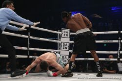 "AnEsonGib, Daniel Roman, Demetrius Andrade, Jake Paul, Joseph Diaz, Luke Keeler, Murodjon Akhmadaliev, Tevin Farmer - In a one-sided fight, WBO middleweight champion Demetrius ""Boo Boo"" Andrade (29-0, 18 KOs) totally dominated #3 WBO Luke Keeler (17-3-1, 5 KOs) in beating him by a 9th round technical knockout on Thursday evening at the Meridian at Island Gardens in Miami, Florida."