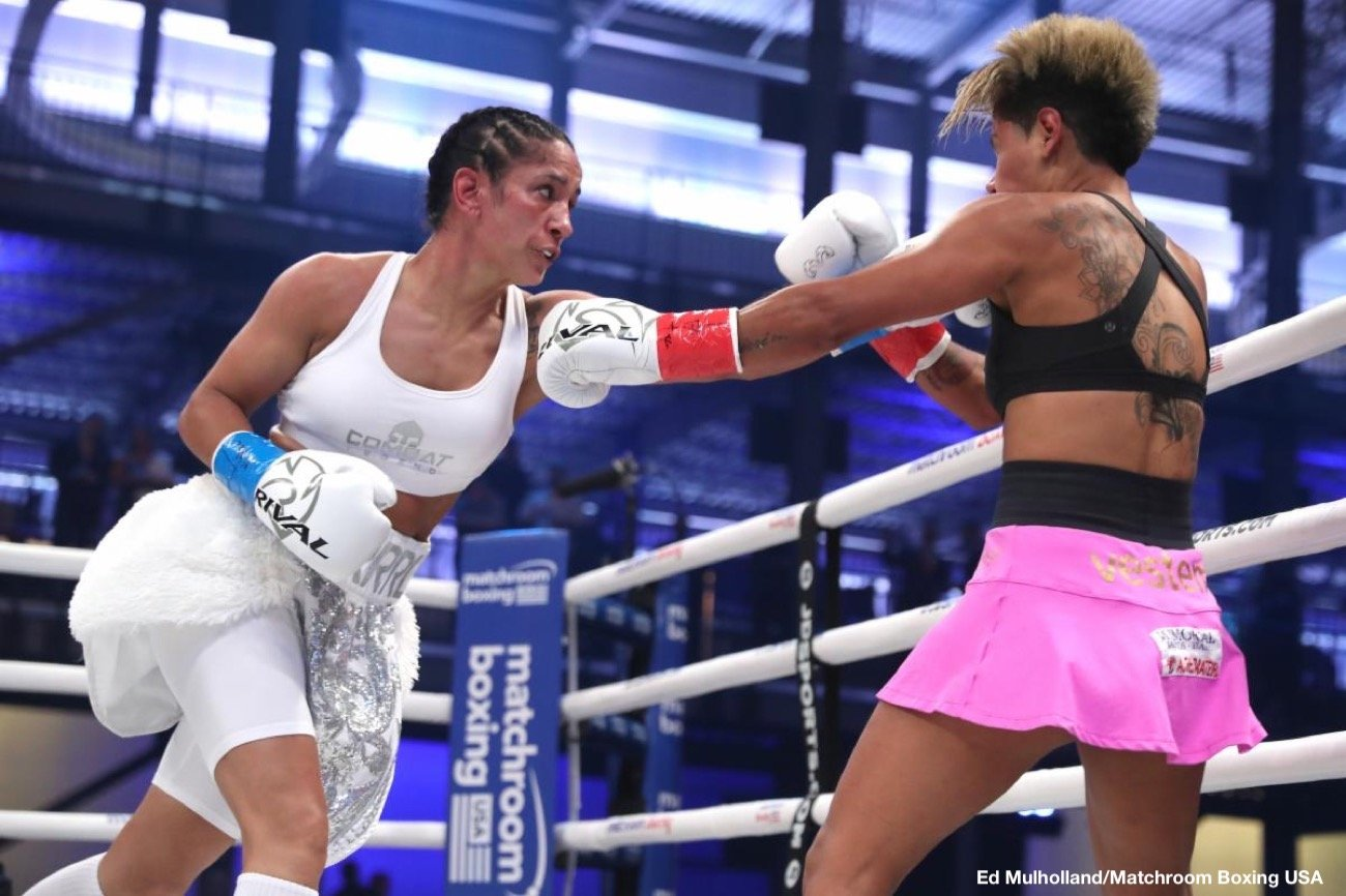 "Amanda Serrano - Seven-division world champion Amanda ""The Real Deal"" Serrano (38-1-1, 28 KOs), of Brooklyn, NY, was victorious last night with a third-round stoppage of Simone Aparecida Da Silva at the Meridian at Island Gardens in Miami, FL, in a scheduled eight-round non-title lightweight clash broadcast on DAZN."