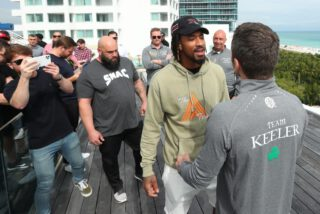 Murodjon Akhmadaliev - Demetrius Andrade has laughed off Luke Keeler branding him 'deluded' as he prepares to defend his WBO World Middleweight title against the Irishman at the Meridian at Island Gardens in Miami on Thursday January 30, live on DAZN in the US and on Sky Sports in the UK.