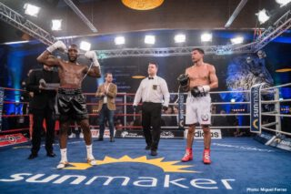 Abass Baraou - Abass Baraou (9-0, 6 KOs) produced a devastating performance to claim a fifth-round TKO win over Abraham Juarez (16-5, 5 KOs) last night at the Work Your Champ Arena in Hamburg, Germany.