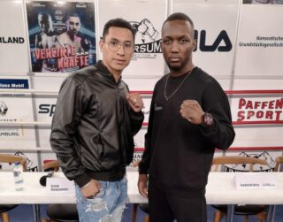 Abass Baraou - German boxing star Abass Baraou (8-0, 5 KOs) and his opponent Abraham Juarez (16-4, 6 KOs) have both made weight ahead of their super welterweight showdown tomorrow at the Work Your Champ Arena in Hamburg, Germany.
