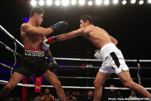 Adrian Estrella, Ja'Rico O'Quinn, Oscar Vasquez, Shohjahon Ergashev, Sugarhill Steward, Ulises Sierra, Vladimir Shishkin - Three promising and undefeated Detroit prospects shined during ShoBox: The New Generation's 250th episode Friday night with Russia native Vladimir Shishkin leading the way with a solid unanimous decision win in the main event Friday night from WinnaVegas Casino in Sloan, Iowa.