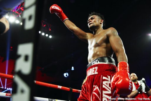 "Eleider Alvarez, Felix Verdejo, Manuel Rey Rojas, Michael Seals - The first man to land his Sunday punch was going to win the fight. Former world champion Eleider ""Storm"" Alvarez returned from a nearly one-year layoff to knock out Michael ""Cannon Handz"" Seals with a single overhand right at the end of the seventh round Saturday evening at Turning Stone Resort Casino."