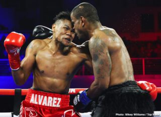 Eleider Alvarez - A short while ago, Canelo Alvarez vacated the WBO light-heavyweight title he won from Sergey Kovalev, and now another guy called Alvarez, who also holds a win over Kovalev, could be in line to fight for it and try and regain it. Eleider Alvarez, who scored an impressive KO over Michael Seals last night (his bomb of a right hand terminating a fight that had been duller than dull until then), could be matched with Joe Smith Jr, with the vacant WBO strap up for grabs.