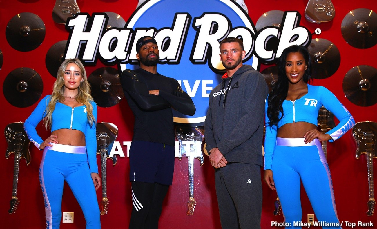Boxing Interviews - Two of the light heavyweight division's biggest punchers, Jesse Hart and Joe Smith Jr., are prepared for a toe-to-toe battle in a 10-rounder Saturday evening (ESPN, 10 p.m. ET/7 p.m. PT) from the Etess Arena at the Hard Rock Hotel and Casino in Atlantic City, N.J.