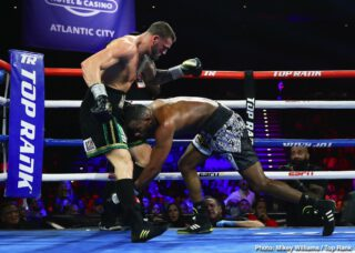 "Joe Smith - When JOE ""THE BEAST"" SMITH JR. (now 25-3 20KO's) and JESSE ""HOLLYWOOD"" HART (now 26-3 21KO's) stepped into the ring at the Hard Rock in Atlantic City on Saturday night, more than a victory and the NABO Light heavyweight title was on the line.  With the WBO World Light Heavyweight title having been vacated in December, a potential 2020 world title opportunity also looms."