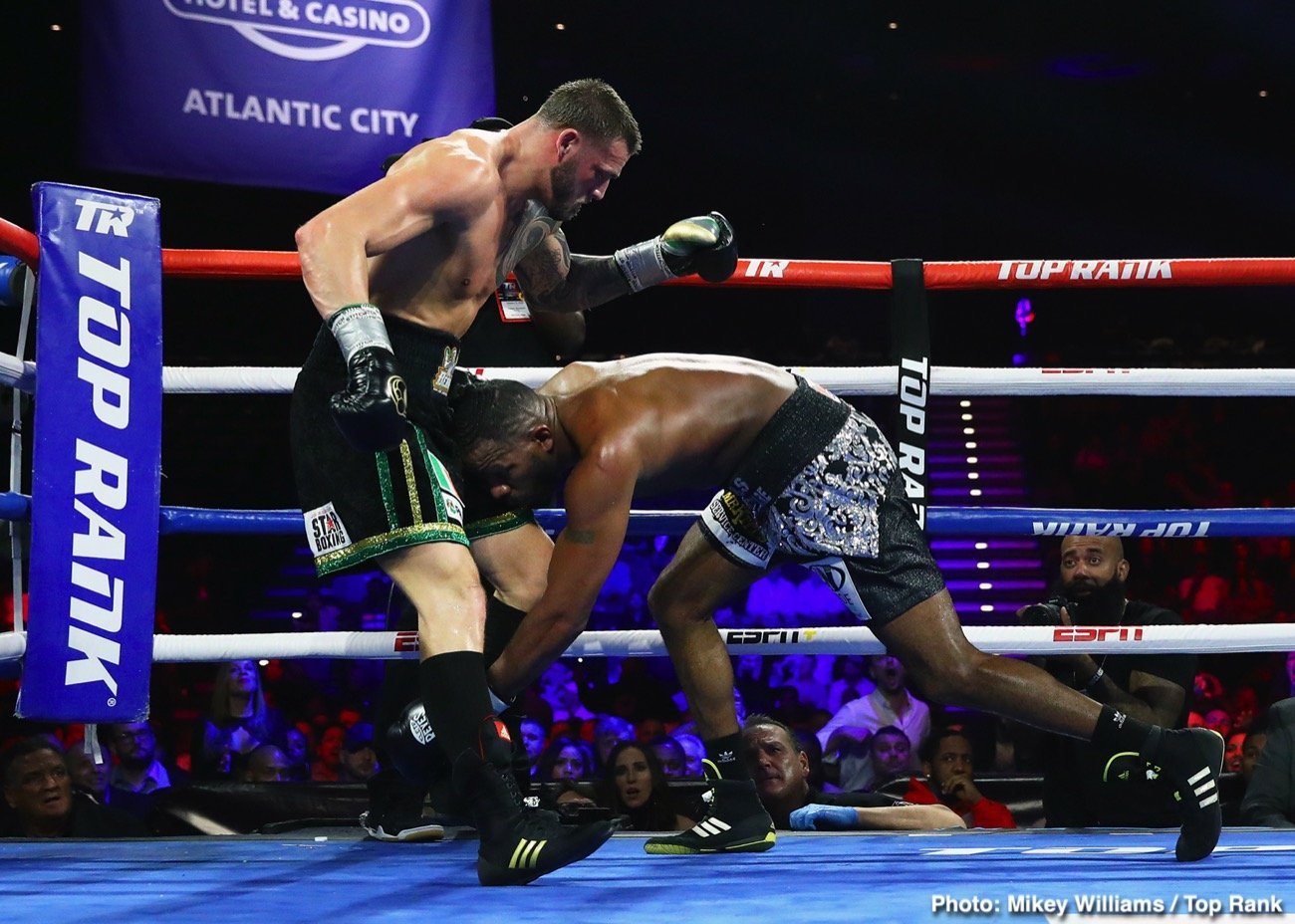 Jesse Hart, Joe Smith Jr. - Two tough, determined and especially motivated light-heavyweights gave us a terrific action fight last night in Atlantic City. Joe Smith Jr, best known for being the man who ended the long and ultra-distinguished career of all-time great Bernard Hopkins, defeated Hopkins' protege Jesse Hart over ten all-action rounds.