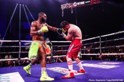 Bakhtiyar Eyubov, Jaron Ennis - Jaron Ennis scored his 15th consecutive knockout with a dominating fourth round TKO over the durable Bakhtiyar Eyubov.
