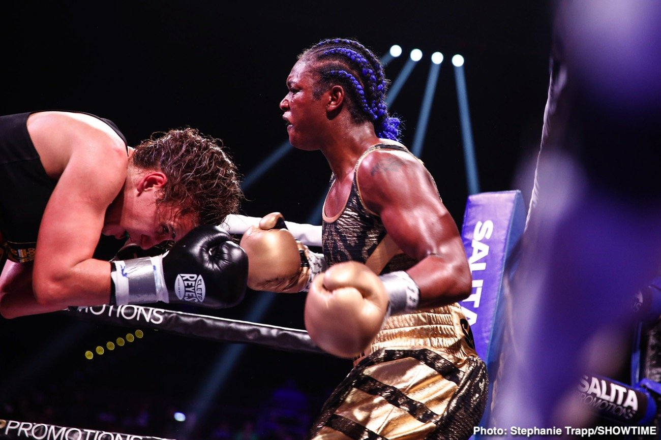 """Christy Martin, Claressa Shields, Laila Ali - Long before Claressa Shields, even before Laila Ali, Christy Martin was the trailblazer; the female fighter who was a star allowing a number of other female boxers to get in there and do their thing. Martin, when she was 14 years into her ring career, was stopped in four rounds by Ali, and even today Martin feels the daughter of """"The Greatest"""" would be way too much for current champ Claressa Shields."""