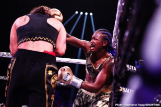 "Claressa Shields - Having become a three-weight world champion in boxing, in so doing becoming, according to herself, the ""GWOAT,"" Claressa Shields will now try her hand at MMA. As per a report from MMA Junkie, Shields has signed a deal with the Professional Fighters League (PFL), and the 25 year old will engage in ""one-off fights at lightweight."""
