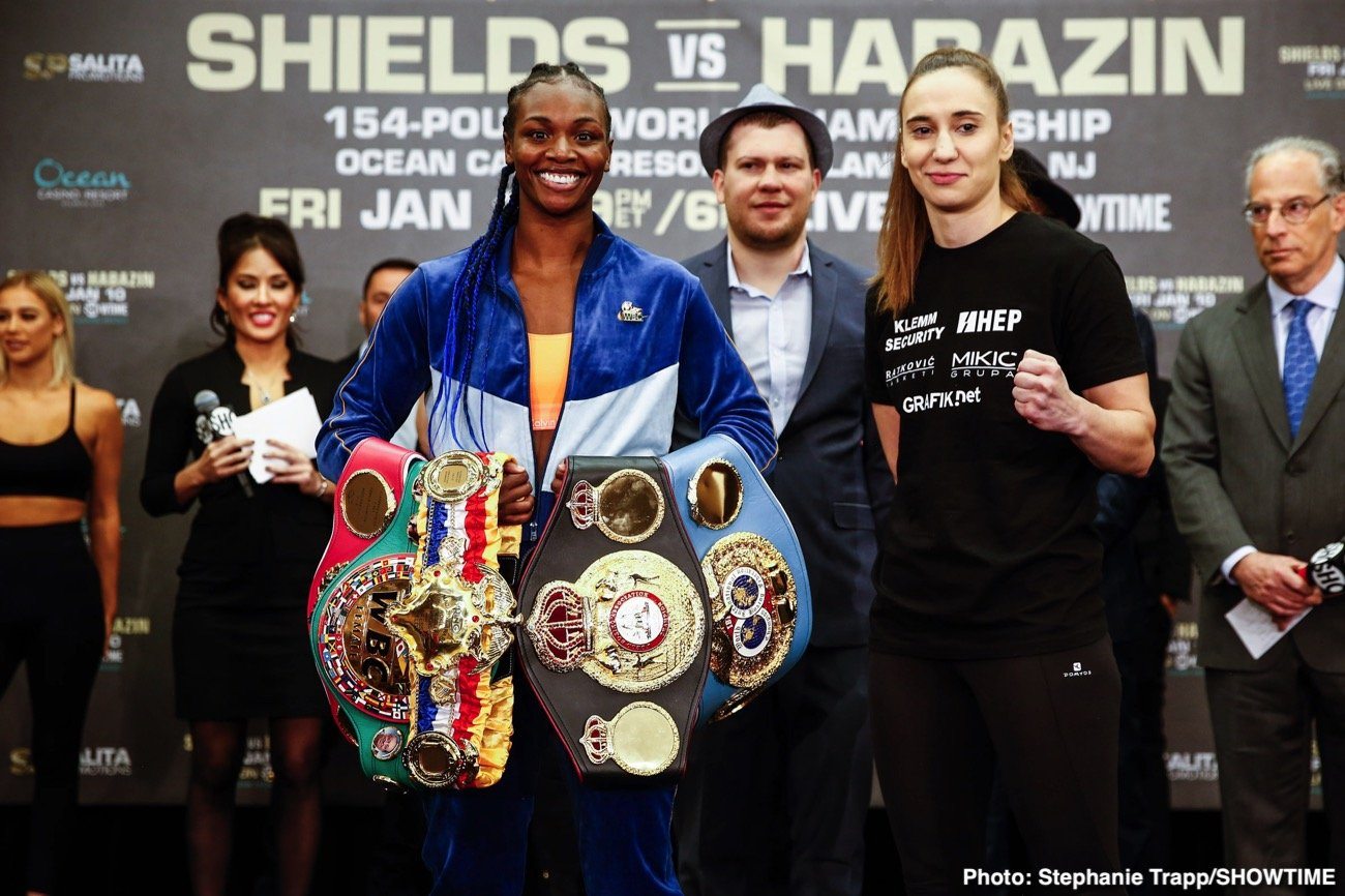 Claressa Shields - Claressa Shields vs. Ivana Habazin final weighs, quotes, photos and commission officials for unified 154 pound world championship on Friday. LIVE on Showtime from the Ocean Casino Resort.
